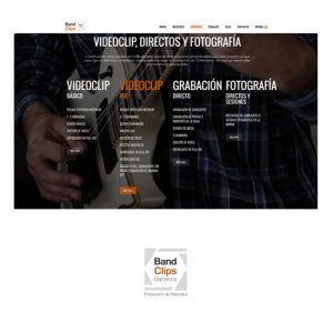 disseny-web-band-clips-barcelona-com